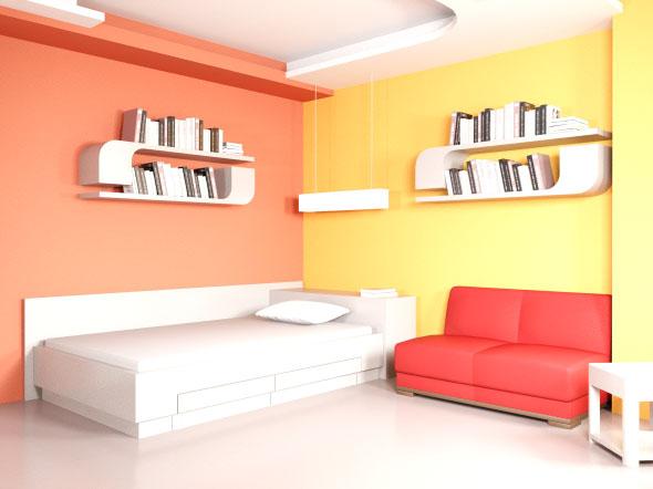 легло и рафтове за детска стая