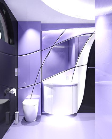 синя лилава баня