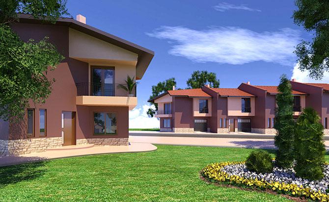 екстериорни 3D визуализации на жилищни комплекси