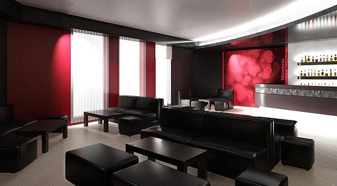 интериорен дизайн с окачен таван