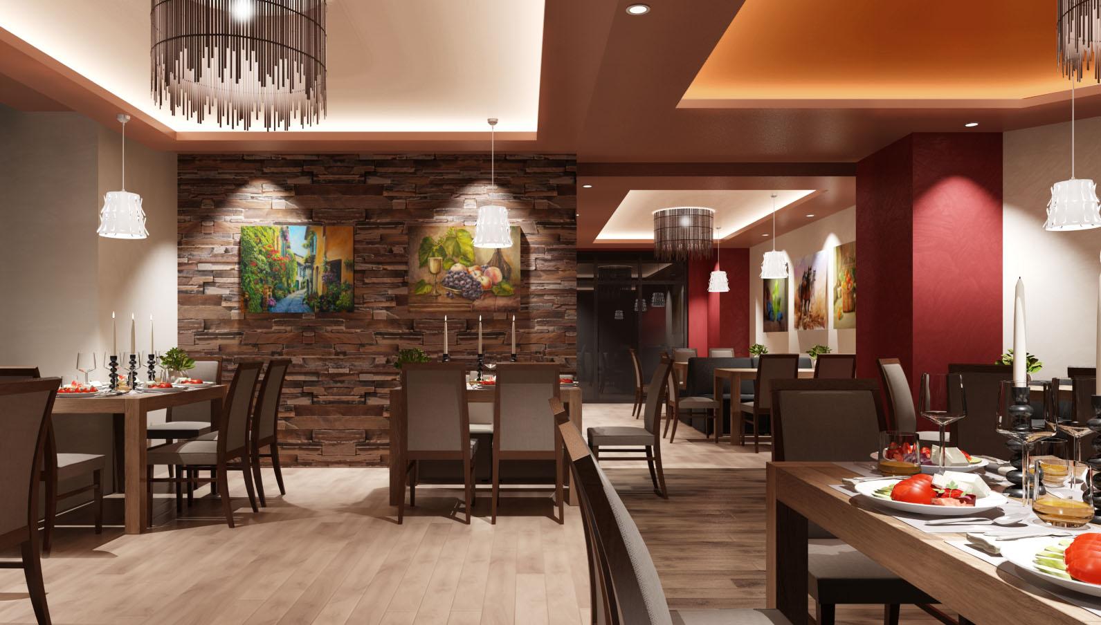 Ресторант с дървени столове