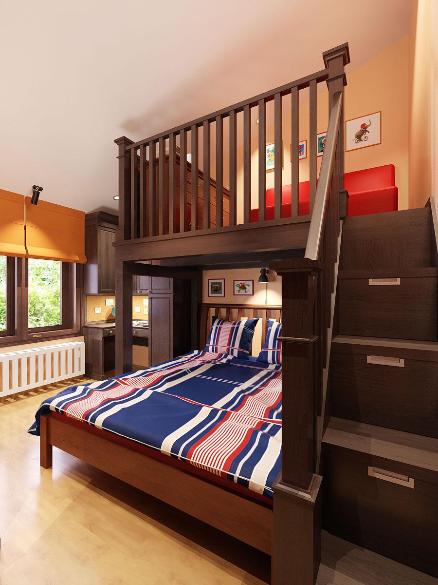 мебели от масив за младежка стая