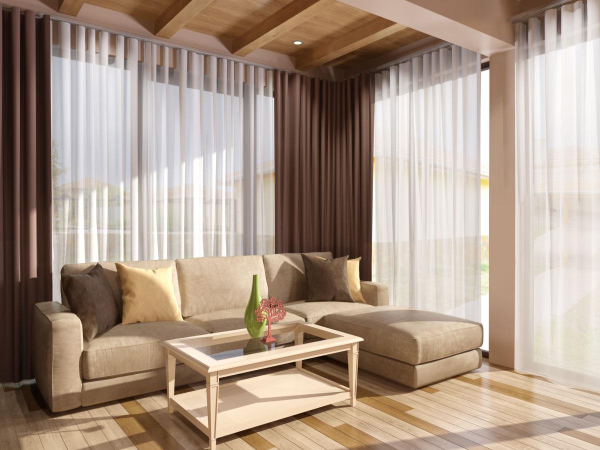 Голям модерен диван и маса от масив