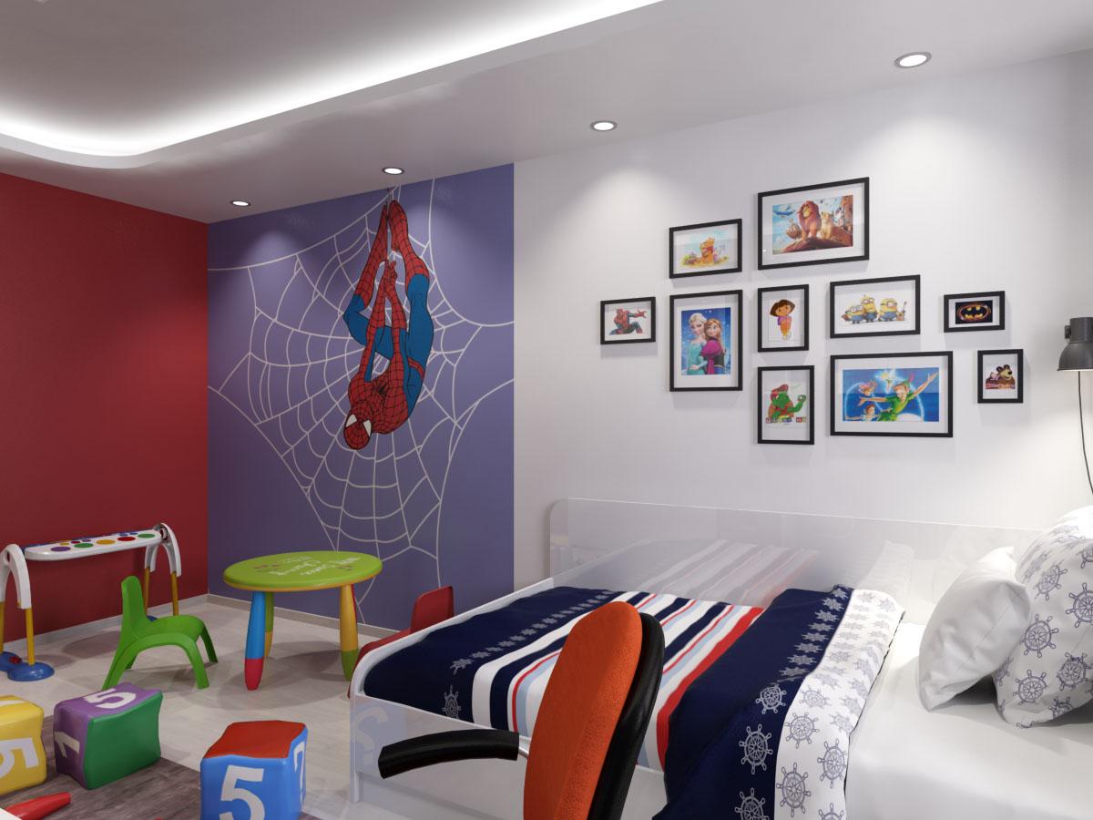 Цветове на детска стая за момче