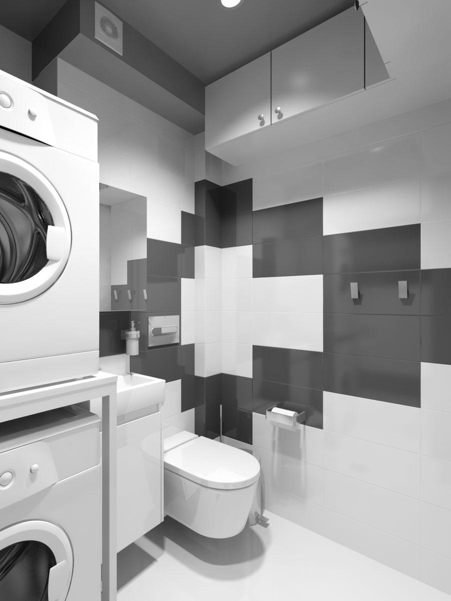 Дизайн. Плочки за перално помещение.