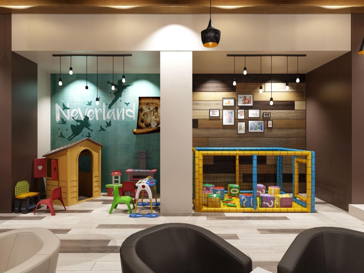 Дизайн на детски кът в заведение