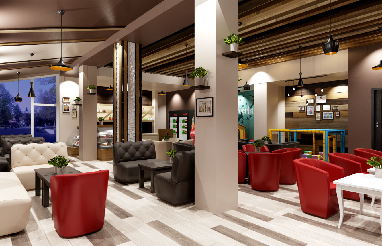 Интериорен дизайн на заведение в Пазарджик