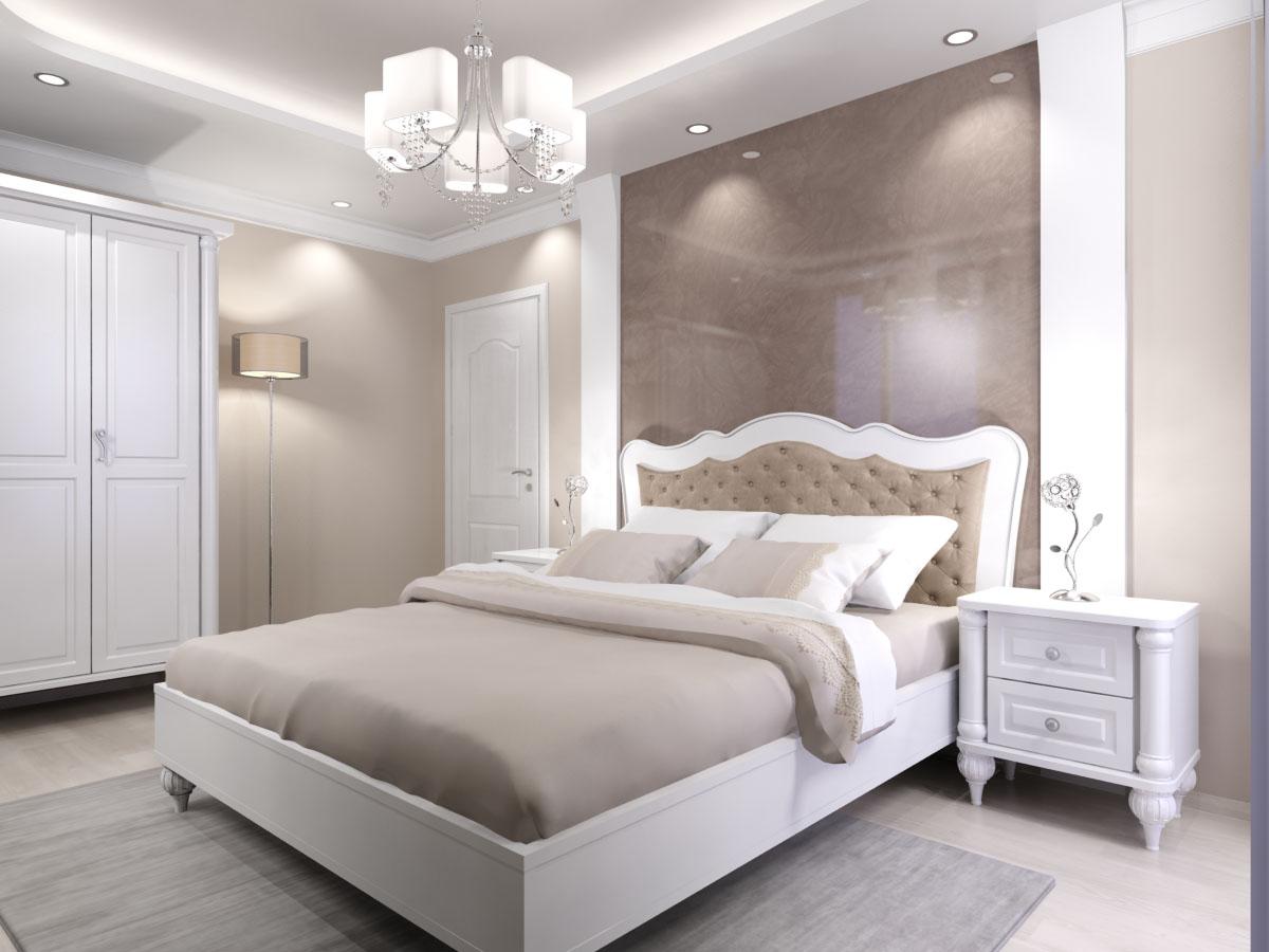 спалня от масив с тапицирана табла